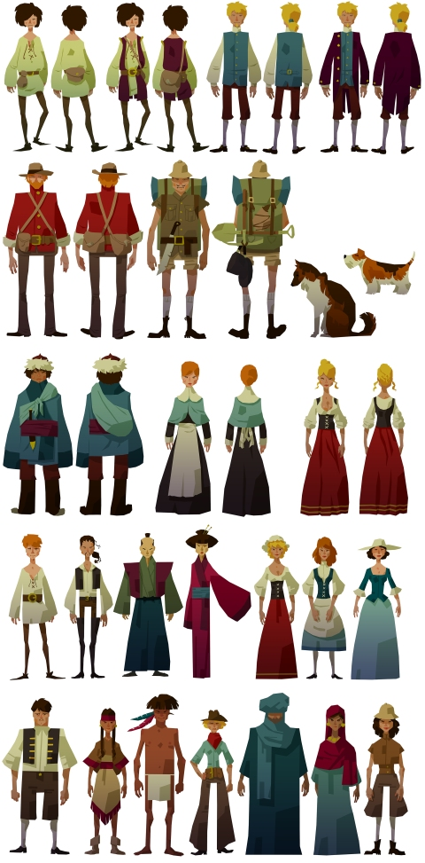 The Trail : a frontier journey, 22cans, character design, video game, mobile, Vincent Maury